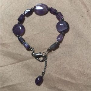 Jewelry - NEW!! NEVER USED!! Pretty purple marble bracelet!!
